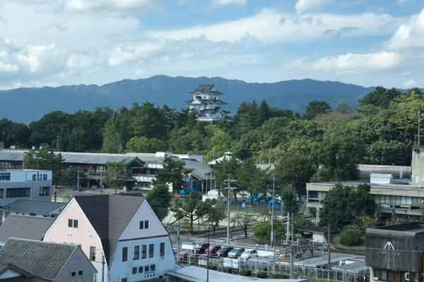 ハイトピア伊賀5階から見た風景