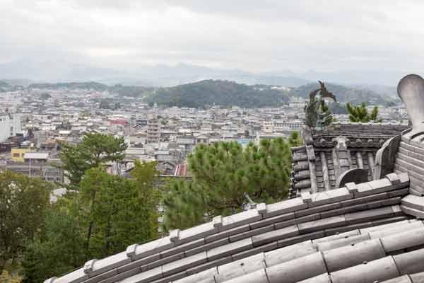 伊賀上野城から見た景色