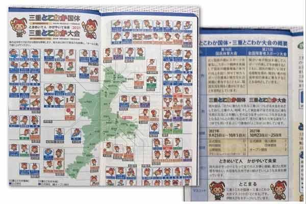 三重県民手帳2020の中身