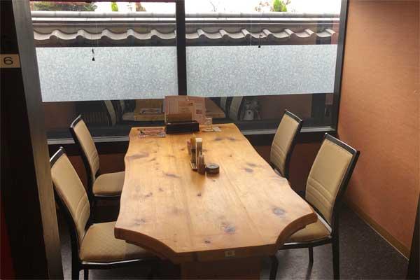 サンピア伊賀レストラン花ごころの席