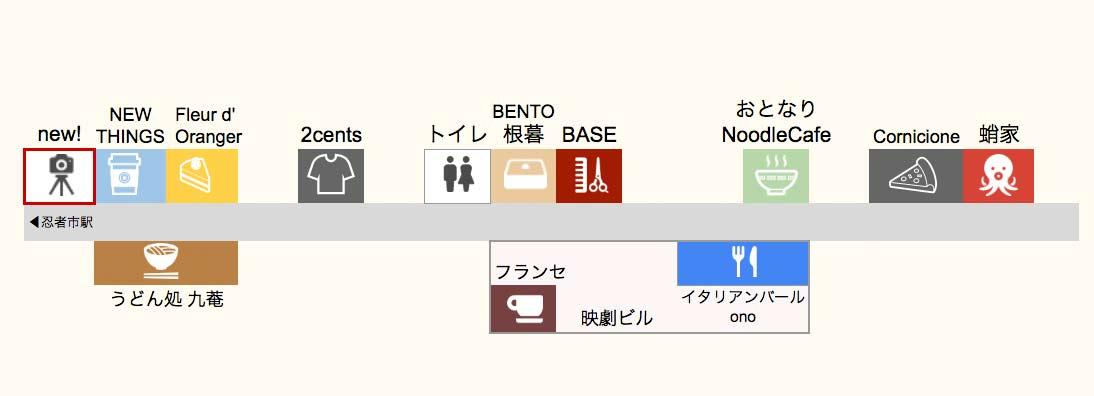 伊賀市の新しいお店の地図