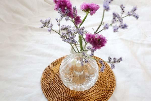ブルーミーライフの花を花瓶でアレンジ